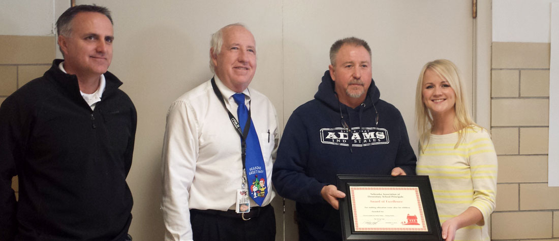 Award of Excellence at Adams Industries