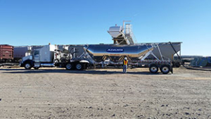 Frac Sand Being Loaded In Adams Truck